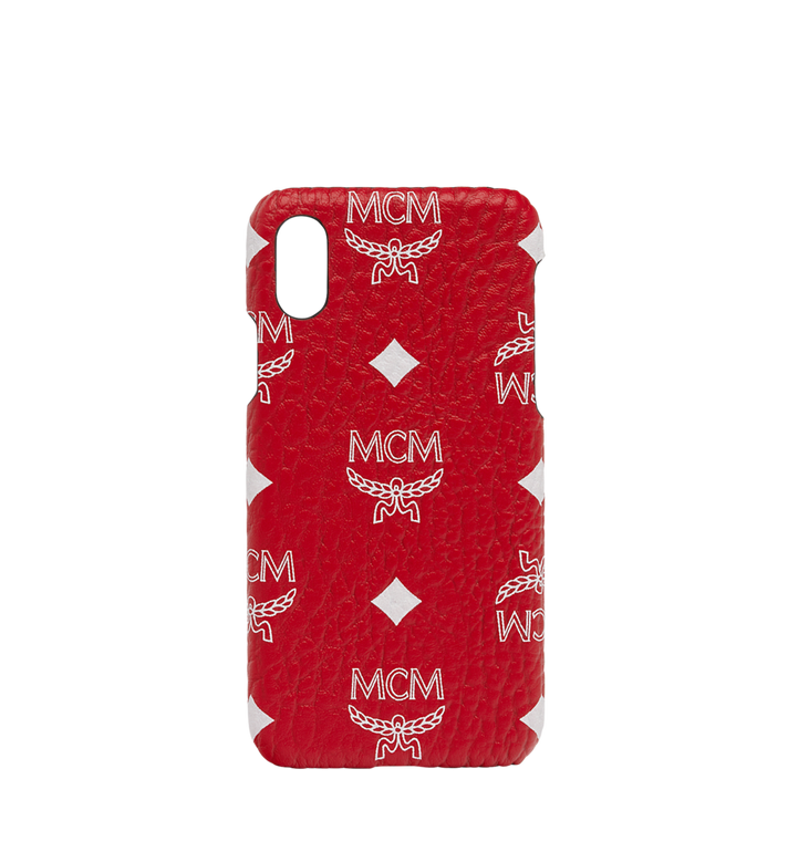 MCM iPhone X Case in White Logo Visetos Alternate View 1