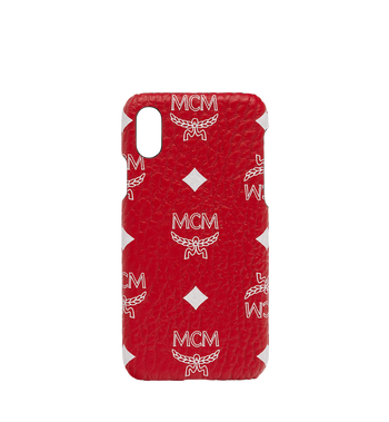 MCM iPhone X Case in White Logo Visetos AlternateView