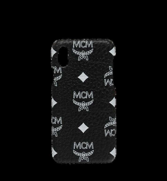 MCM iPhone X Hülle mit Visetos Logo in Weiss Alternate View