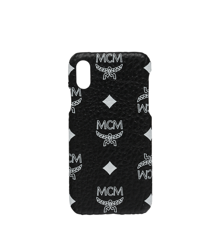 MCM Coque pour iPhone X en Visetos à logo blanc Alternate View