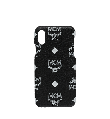 MCM iPhone X Case in White Logo Visetos MZE9SWA11BV001 AlternateView