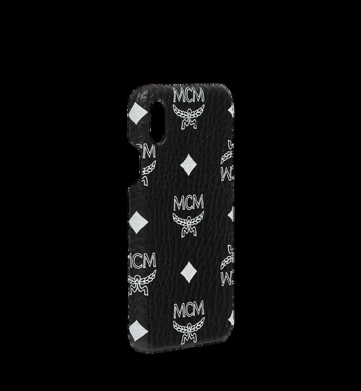 MCM iPhone X Hülle mit Visetos Logo in Weiss Black MZE9SWA11BV001 Alternate View 2