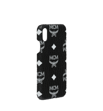 MCM iPhone X Case in White Logo Visetos Alternate View 2