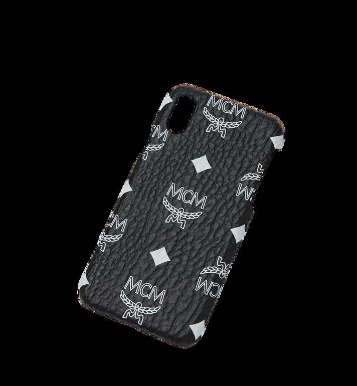 MCM iPhone X Hülle mit Visetos Logo in Weiss Black MZE9SWA11BV001 Alternate View 4