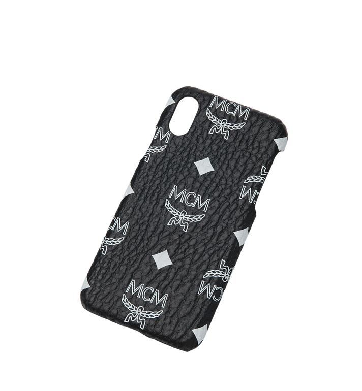 MCM Coque pour iPhone X en Visetos à logo blanc Alternate View 4