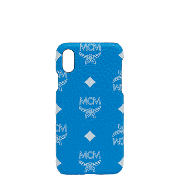 MCM iPhone X Case in White Logo Visetos Alternate View
