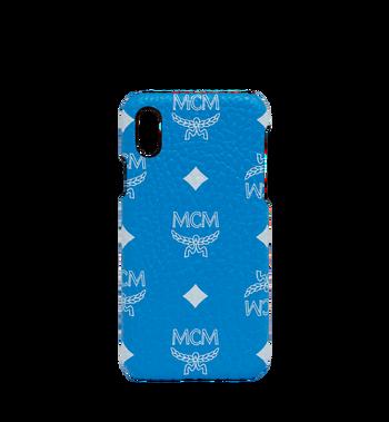 MCM iPhone X Case in White Logo Visetos MZE9SWA11HI001 AlternateView