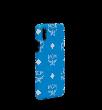 MCM iPhone X Case in White Logo Visetos MZE9SWA11HI001 AlternateView2