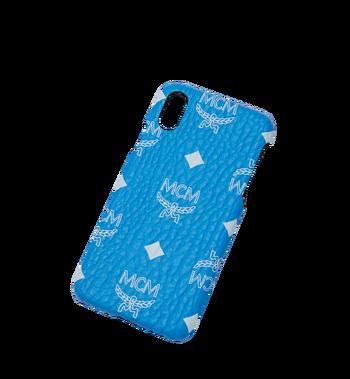 MCM iPhone X Case in White Logo Visetos MZE9SWA11HI001 AlternateView4