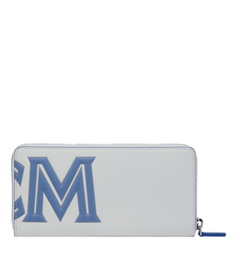 MCM Zip Around Wallet in Contrast Logo Leather Alternate View 3