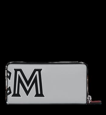 MCM Brieftasche aus Leder mit Reissverschluss und kontrastfarbenem Logo  Red MZL9SCL02RU001 Alternate View 3