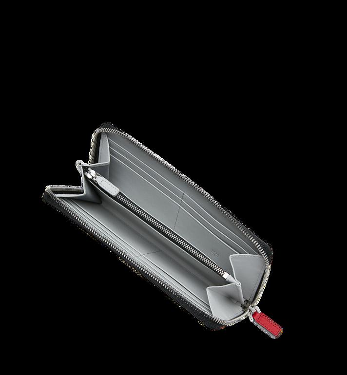 MCM Brieftasche aus Leder mit Reissverschluss und kontrastfarbenem Logo  Red MZL9SCL02RU001 Alternate View 4