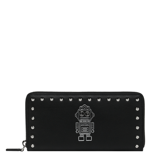 Roboter Zip Around Wallet in Nappa Leather