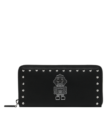 MCM Roboter Zip Around Wallet in Nappa Leather MZL9SRO33BK001 AlternateView