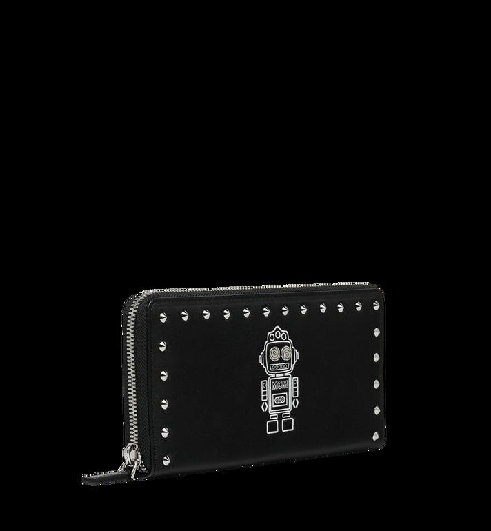 MCM Roboter Zip Around Wallet in Nappa Leather MZL9SRO33BK001 AlternateView2