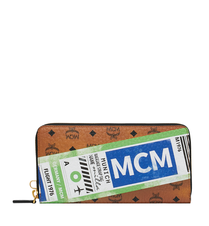 MCM Wristlet Zip Wallet in Flight Print Visetos Alternate View