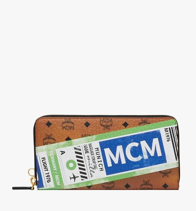 Wristlet Zip Wallet in Flight Print Visetos