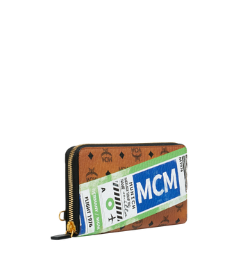 MCM Wristlet Zip Wallet in Flight Print Visetos Alternate View 2
