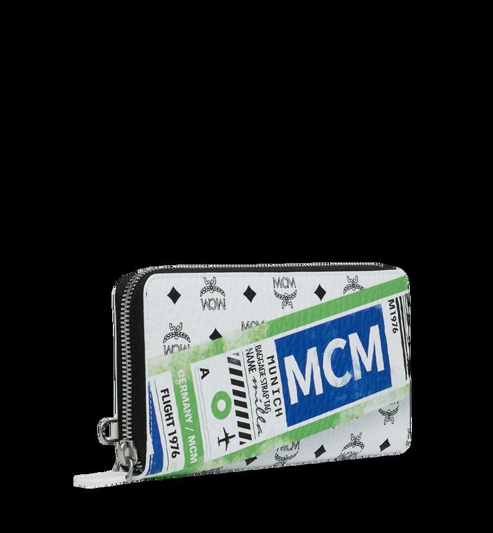 MCM 비세토스 플라이트 프린트 집 어라운드 장지갑 Alternate View 2