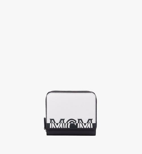 Brieftasche mit Reissverschluss und kontrastierendem Logo