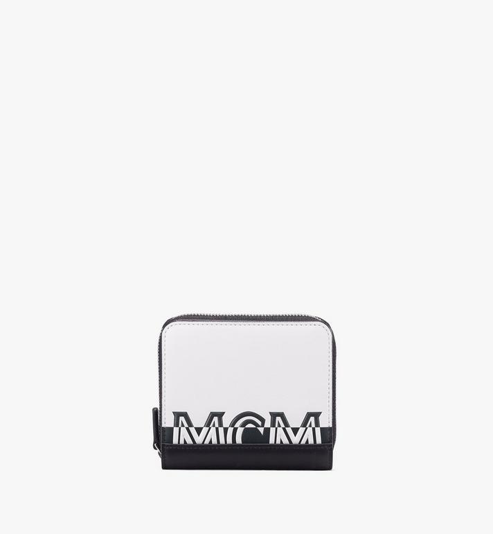 MCM Brieftasche mit Reissverschluss und kontrastierendem Logo Alternate View
