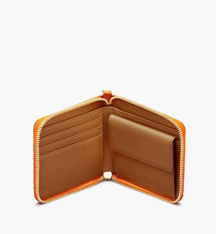 MCM Travel Patch Zip Around Wallet in Visetos  MZS9AVI75CO001 Alternate View 3