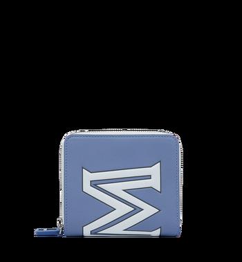 MCM Zip Wallet in Contrast Logo Leather Alternate View