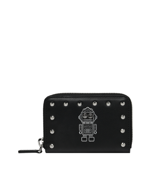 Roboter Zipped Card Wallet in Nappa Leather