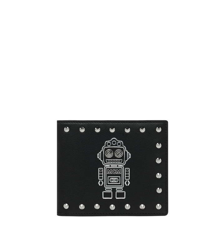MCM Roboter Bifold Wallet in Nappa Leather MZS9SRO35BK001 AlternateView