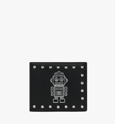 Roboter Bifold Wallet in Nappa Leather