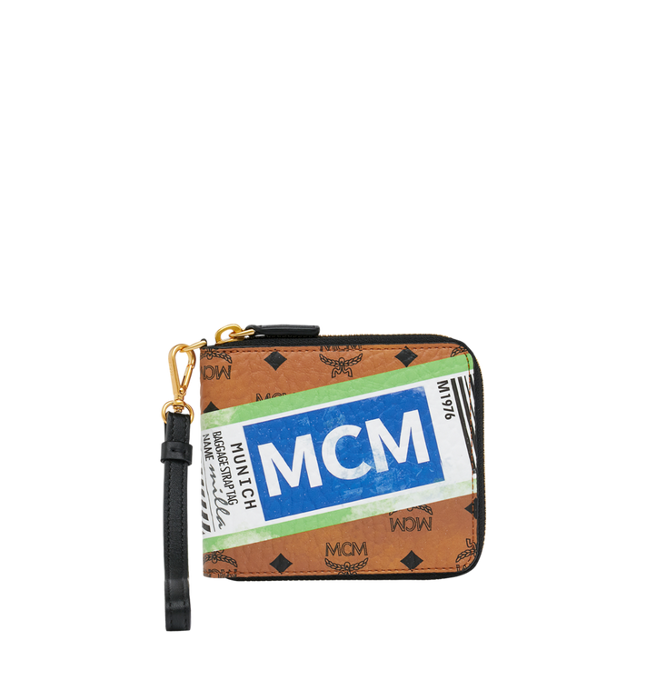 MCM Brieftasche mit Reissverschluss in Flight Print Visetos Alternate View