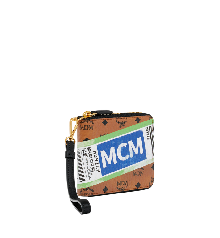 MCM Brieftasche mit Reissverschluss in Flight Print Visetos Alternate View 2