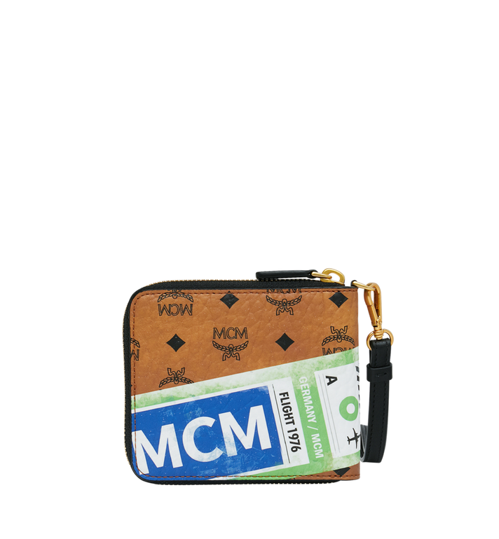 MCM Brieftasche mit Reissverschluss in Flight Print Visetos Alternate View 3