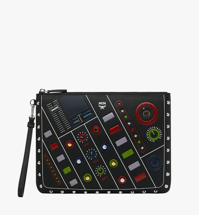 Tasche mit Handgelenksband und Reissverschluss in MCM Cassette