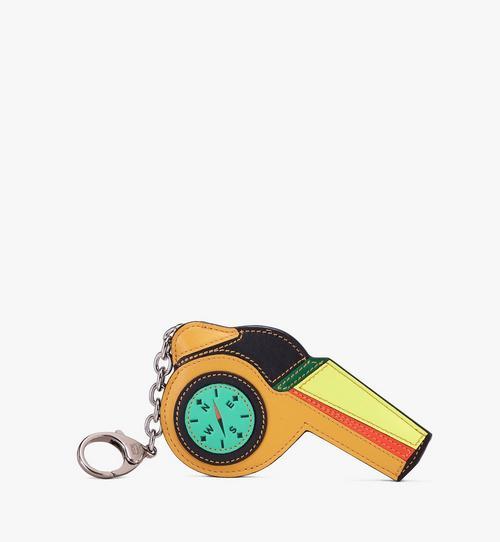 Porte-clés sifflet en cuir