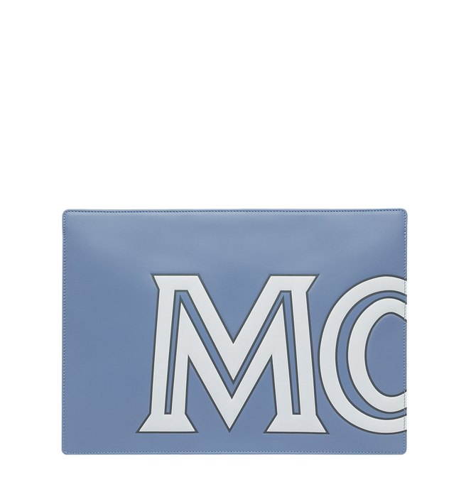 MCM Zip Pouch in Contrast Logo Leather Alternate View