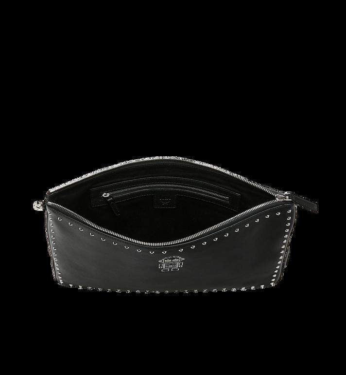 MCM Roboter Wristlet Zip Pouch in Nappa Leather Black MZZ9SRO31BK001 Alternate View 4