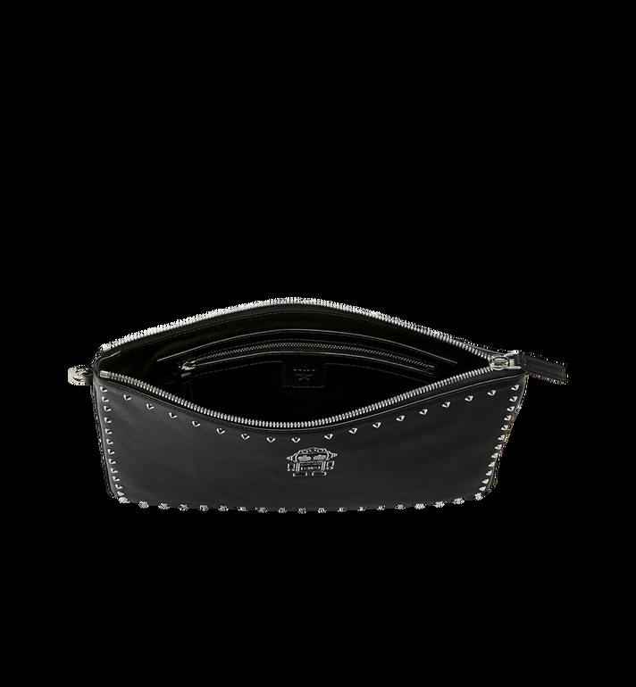 MCM Roboter Wristlet Zip Pouch in Nappa Leather Black MZZ9SRO32BK001 Alternate View 4
