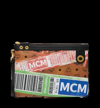 MCM Beutel mit Reissverschluss oben in Flight Print Visetos Alternate View
