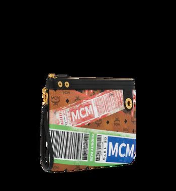 MCM Beutel mit Reissverschluss oben in Flight Print Visetos Cognac MZZ9SVI93CO001 Alternate View 2