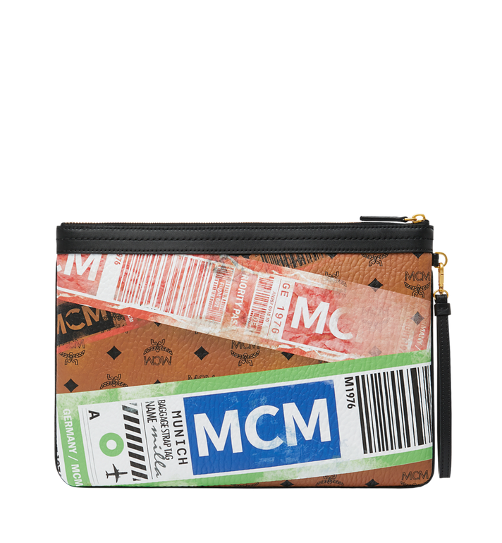 MCM フライトプリント ヴィセトス トップジップ ポーチ AlternateView3