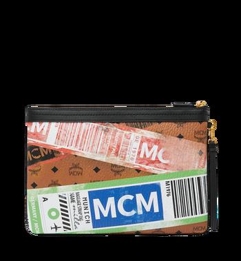 MCM Beutel mit Reissverschluss oben in Flight Print Visetos Cognac MZZ9SVI93CO001 Alternate View 3