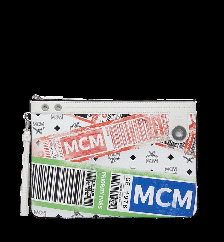 MCM フライトプリント ヴィセトス トップジップ ポーチ Alternate View