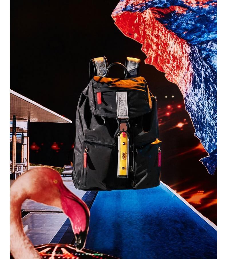 Resnick Two Pocket Backpack in Monogram Nylon